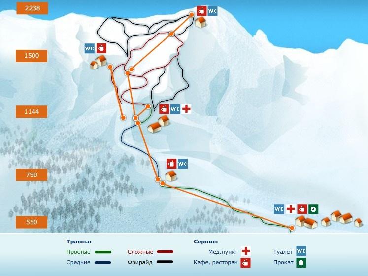"""Комплекс  """"Горная карусель """" традиционно привлекает любителей горных лыж и сноуборда великолепными трассами различной..."""