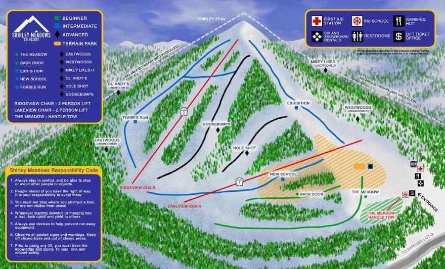 Карта склонов